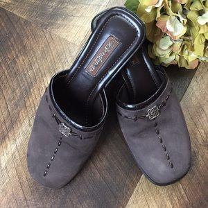 Brighton mule slipon wedge shoes